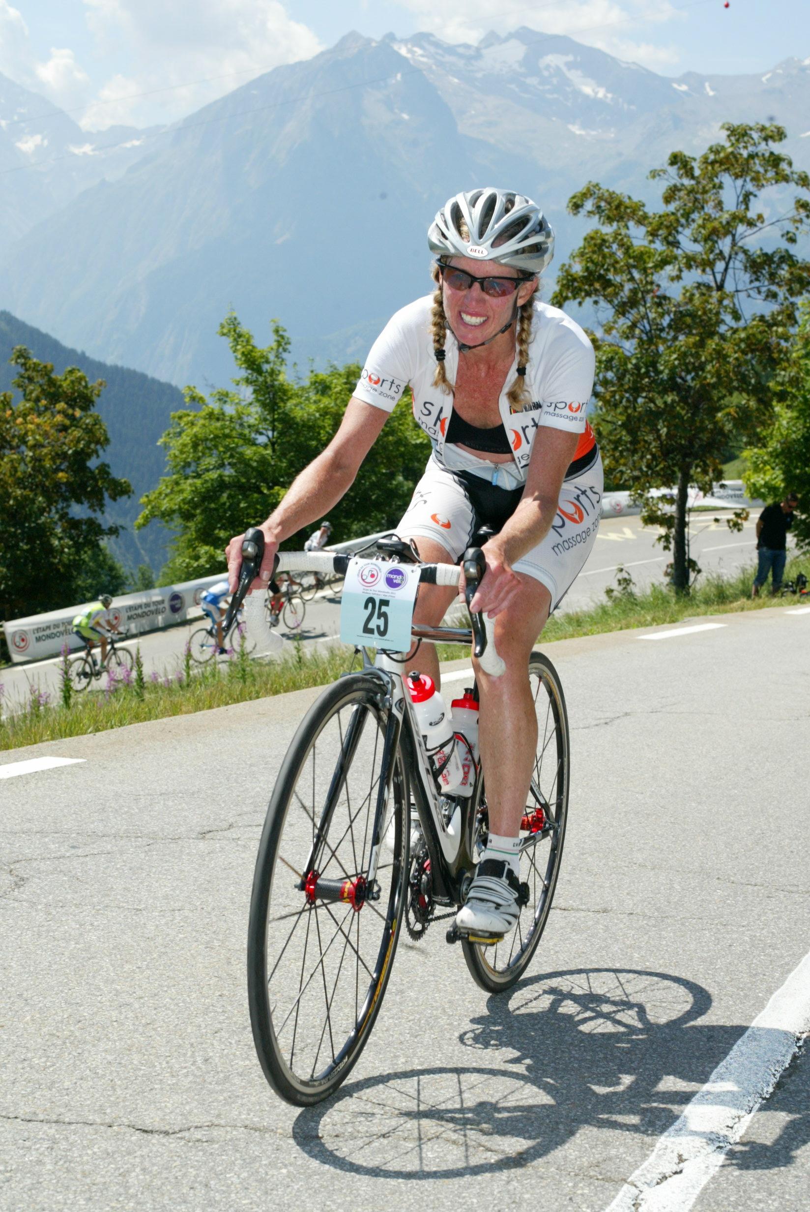 Riding Up Alpe Dhuez